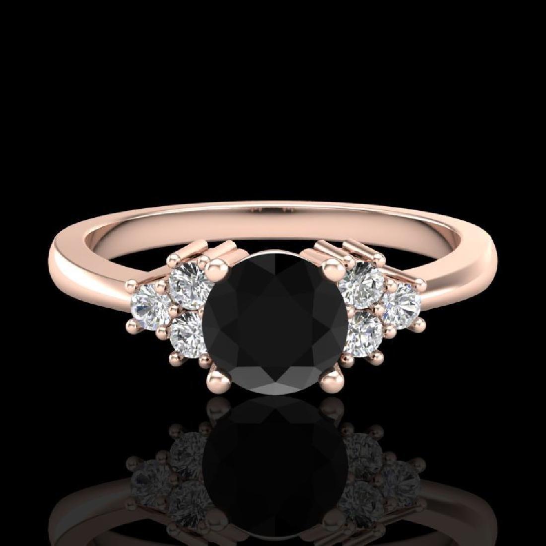 0.75 CTW Fancy Black Diamond Solitaire Engagement - 2