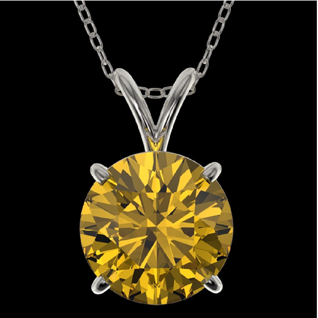 2 CTW Certified Intense Yellow SI Diamond Solitaire