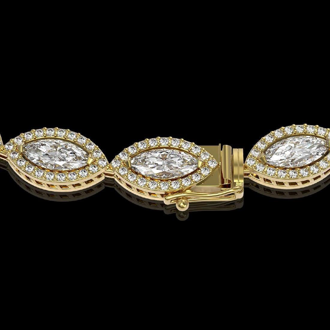 24.42 CTW Marquise Diamond Designer Necklace 18K Yellow - 3