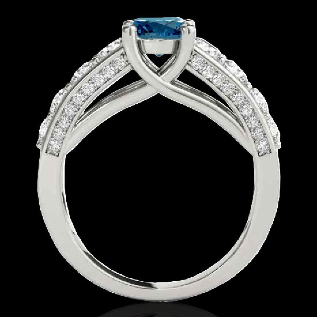 3.05 CTW SI Certified Fancy Blue Diamond Solitaire Ring - 2