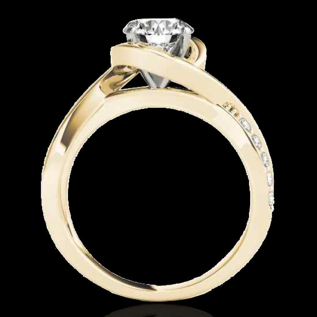 1.15 CTW H-SI/I Certified Diamond Solitaire Ring 10K - 2