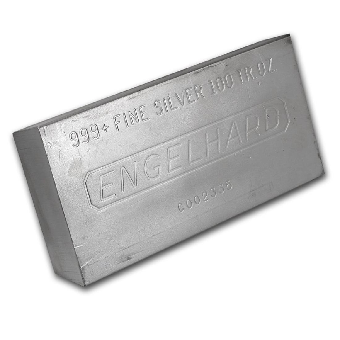 One piece 100 oz 0.999 Fine Silver Bar Engelhard-69621