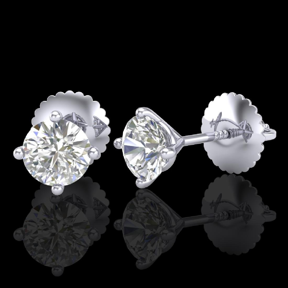 0.65 CTW VS/SI Diamond Solitaire Art Deco Stud Earrings - 2
