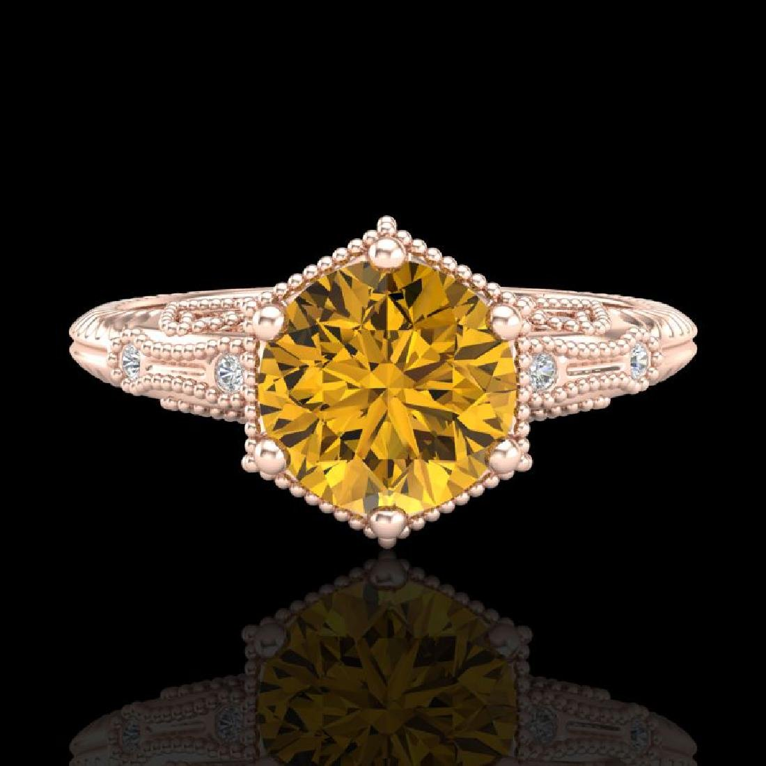 1.17 CTW Intense Fancy Yellow Diamond Engagement Art - 2