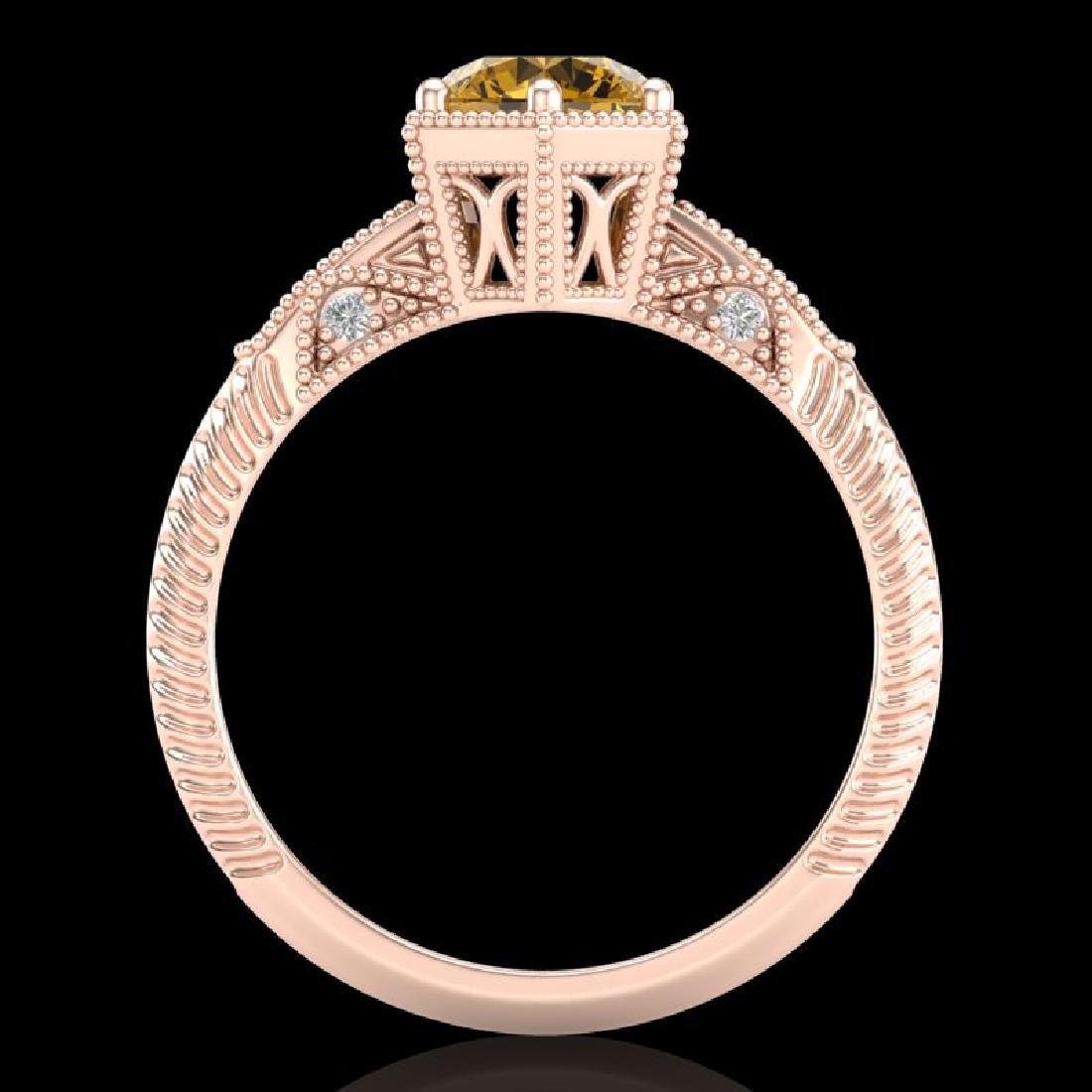 1.17 CTW Intense Fancy Yellow Diamond Engagement Art - 3