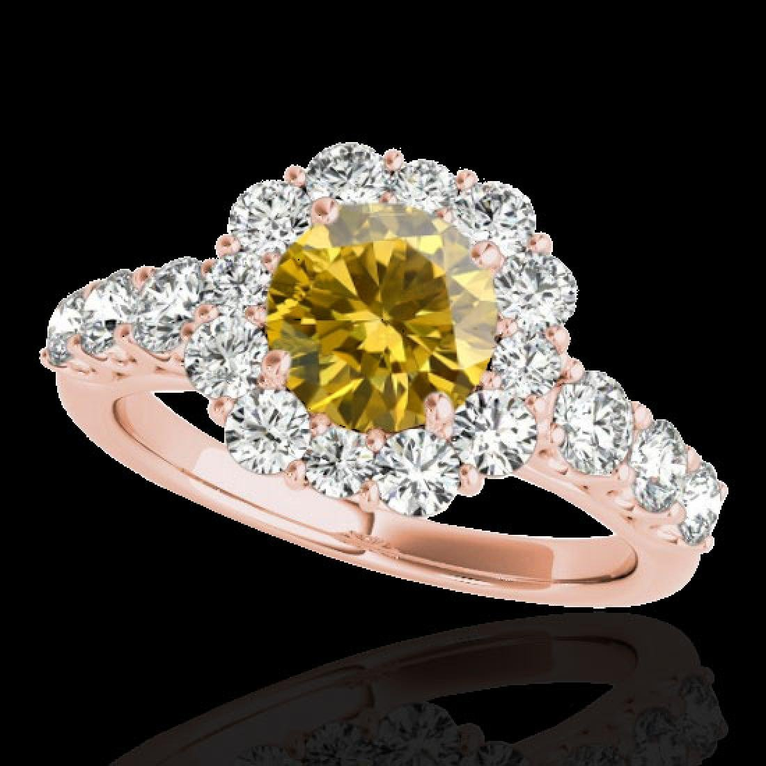 2.9 CTW Certified SI/I Fancy Intense Yellow Diamond
