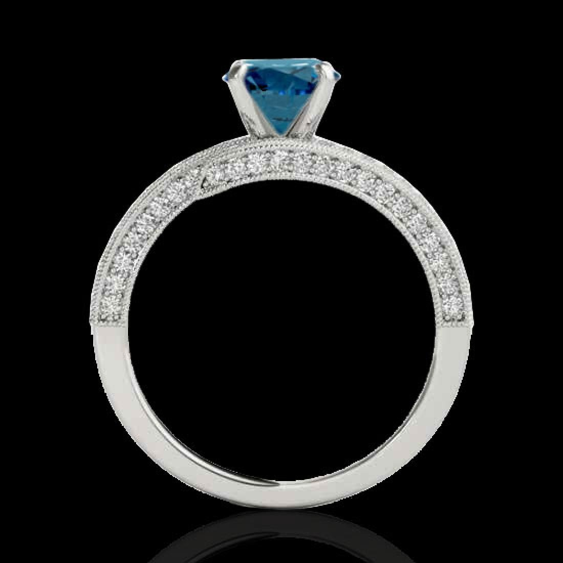 2 CTW SI Certified Fancy Blue Diamond Bypass Solitaire - 2