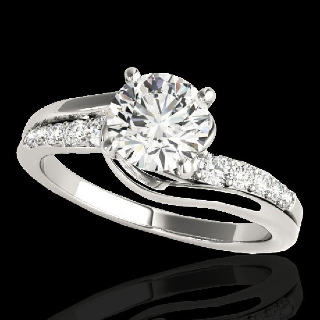 1.31 CTW H-SI/I Certified Diamond Bypass Solitaire Ring