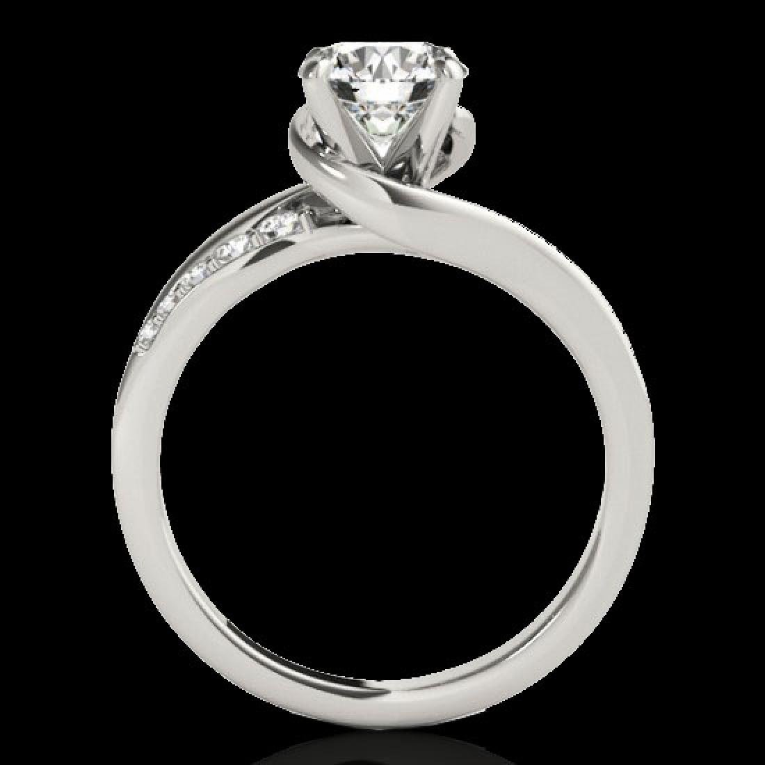 1.31 CTW H-SI/I Certified Diamond Bypass Solitaire Ring - 2