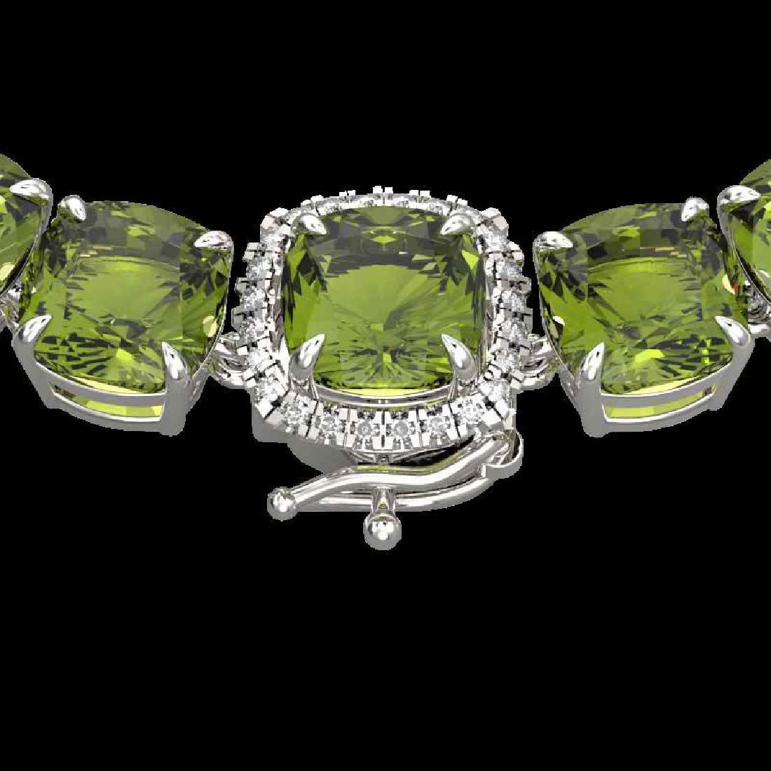 100 CTW Green Tourmaline & VS/SI Diamond Halo Micro