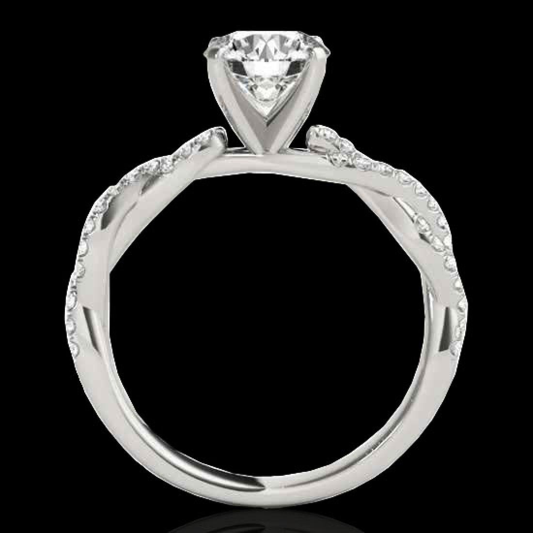 1.25 CTW H-SI/I Certified Diamond Solitaire Ring 10K - 2