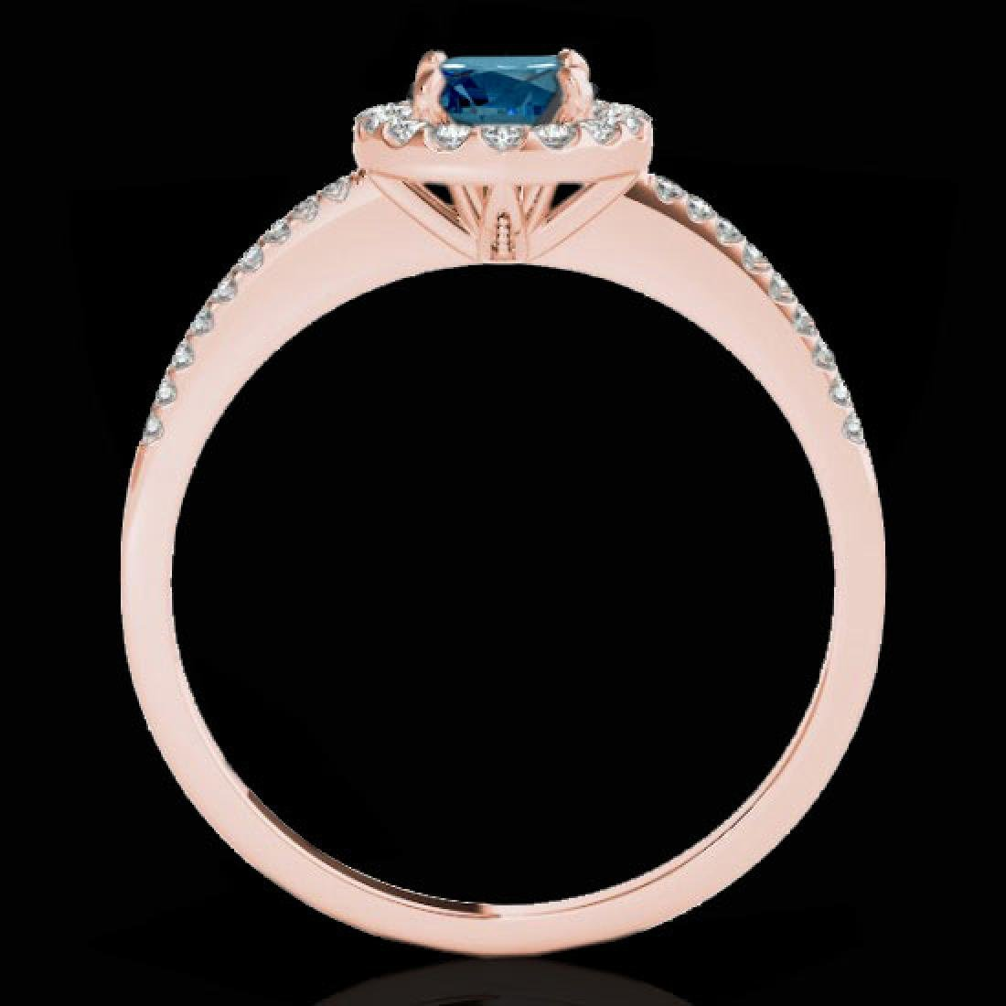 1.2 CTW SI Certified Fancy Blue Diamond Solitaire Halo