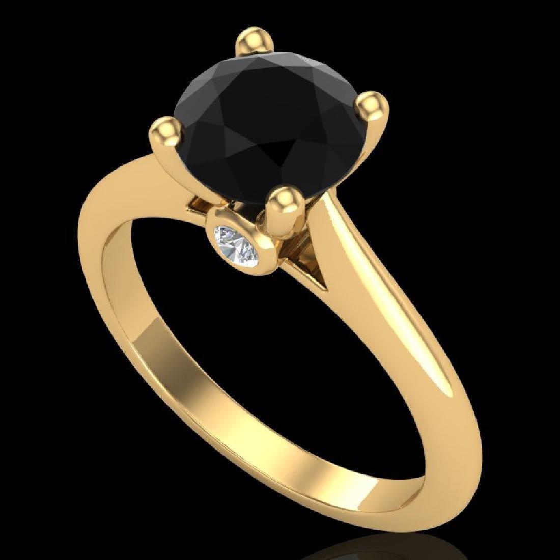 1.6 CTW Fancy Black Diamond Solitaire Engagement Art