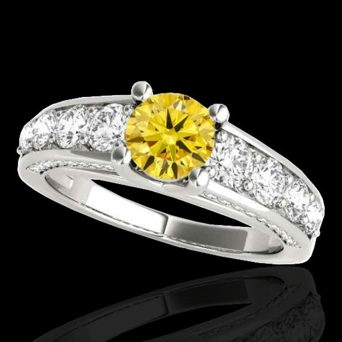 3.05 CTW Certified SI/I Fancy Intense Yellow Diamond