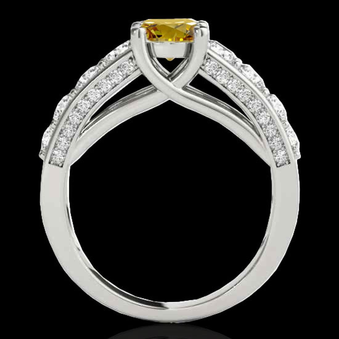 3.05 CTW Certified SI/I Fancy Intense Yellow Diamond - 2