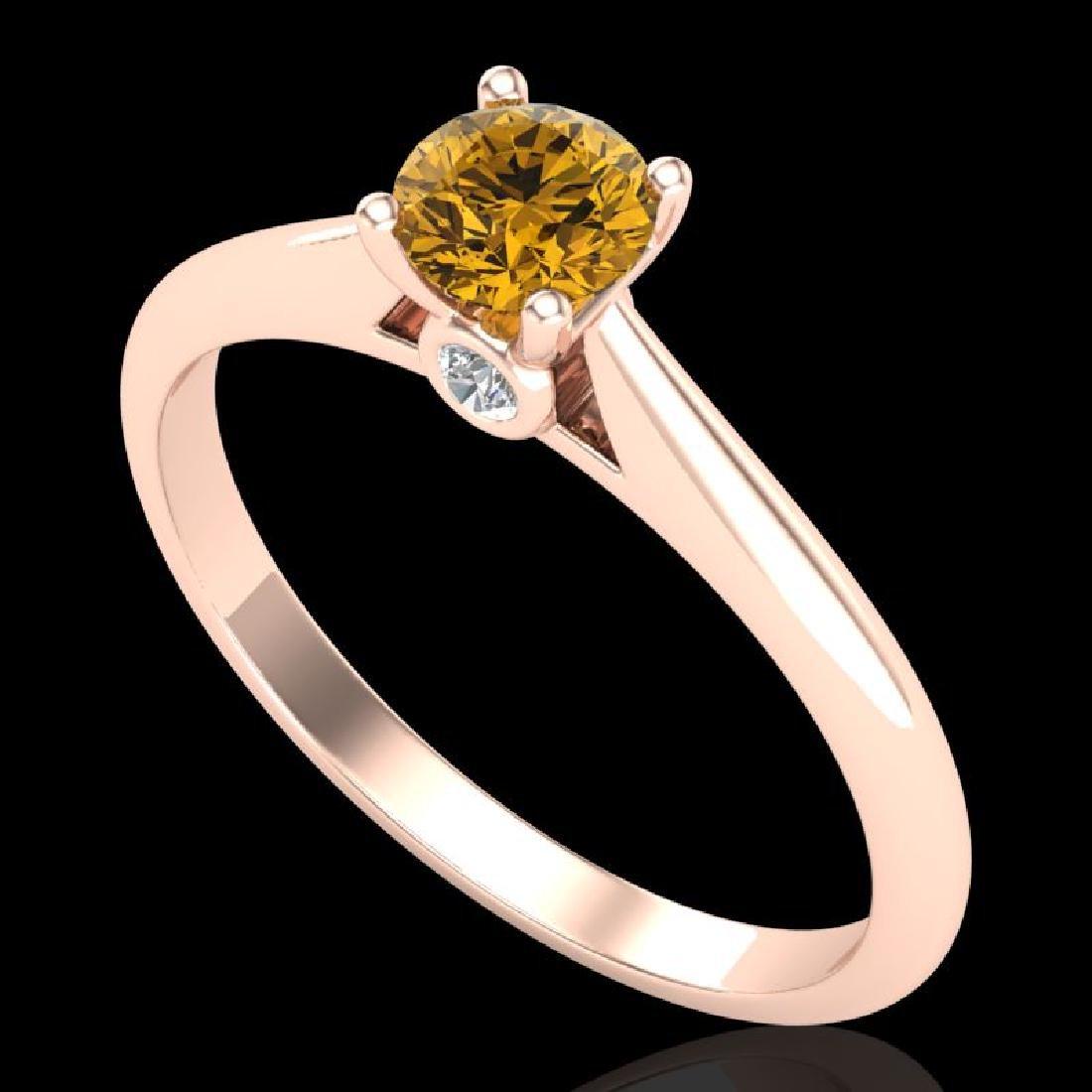 0.4 CTW Intense Fancy Yellow Diamond Engagement Art