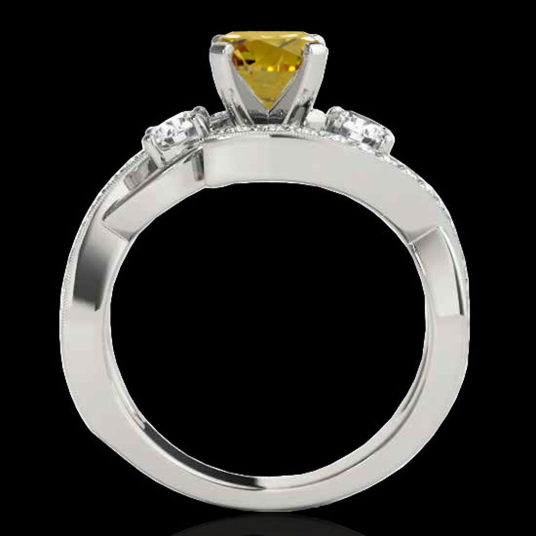 2.26 CTW Certified Si Intense Yellow Diamond Bypass - 2