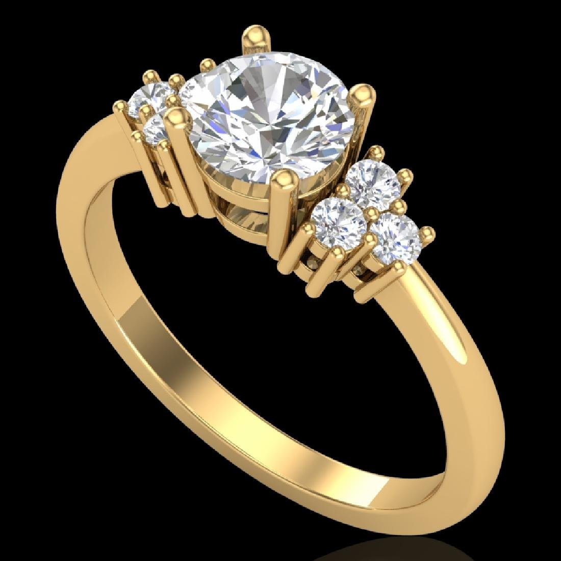 1 CTW VS/SI Diamond Solitaire Ring 18K Yellow Gold