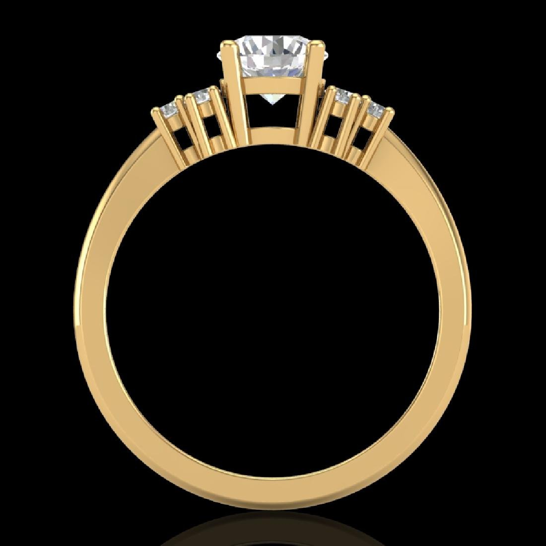 1 CTW VS/SI Diamond Solitaire Ring 18K Yellow Gold - 2