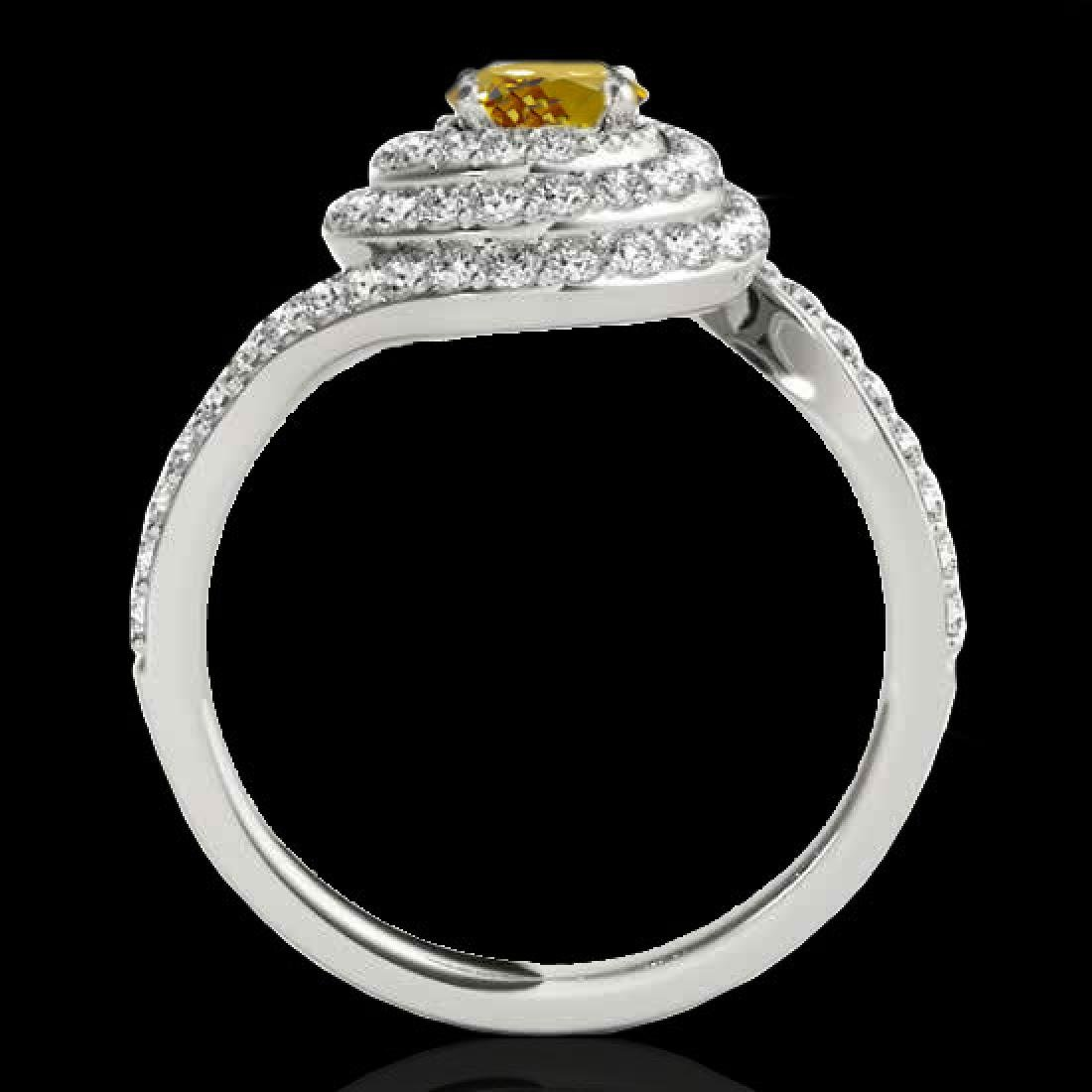 2.11 CTW Certified SI/I Fancy Intense Yellow Diamond - 2