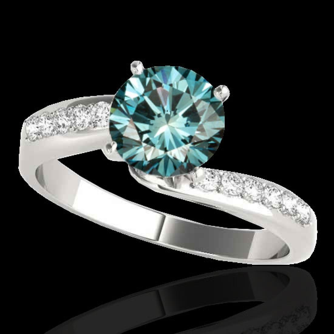 1.4 CTW SI Certified Fancy Blue Diamond Bypass