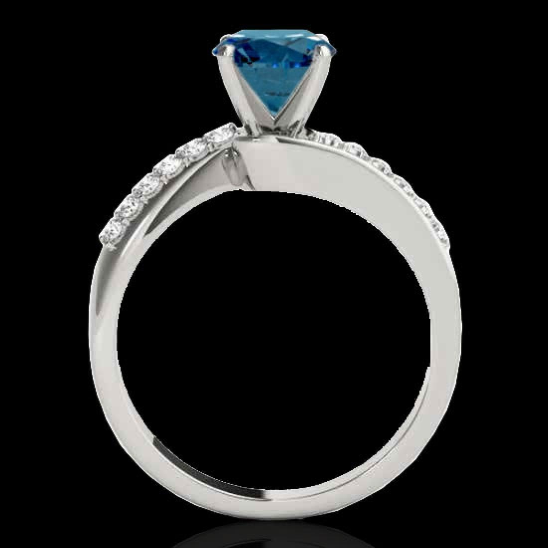 1.4 CTW SI Certified Fancy Blue Diamond Bypass - 2