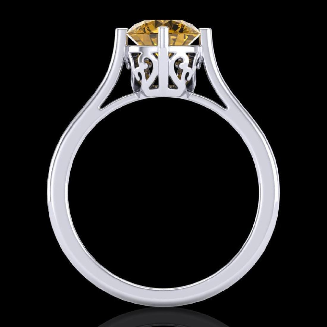 1.25 CTW Intense Fancy Yellow Diamond Engagement Art - 3