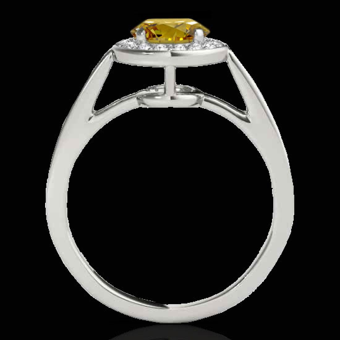 1.45 CTW Certified SI/I Fancy Intense Yellow Diamond - 2