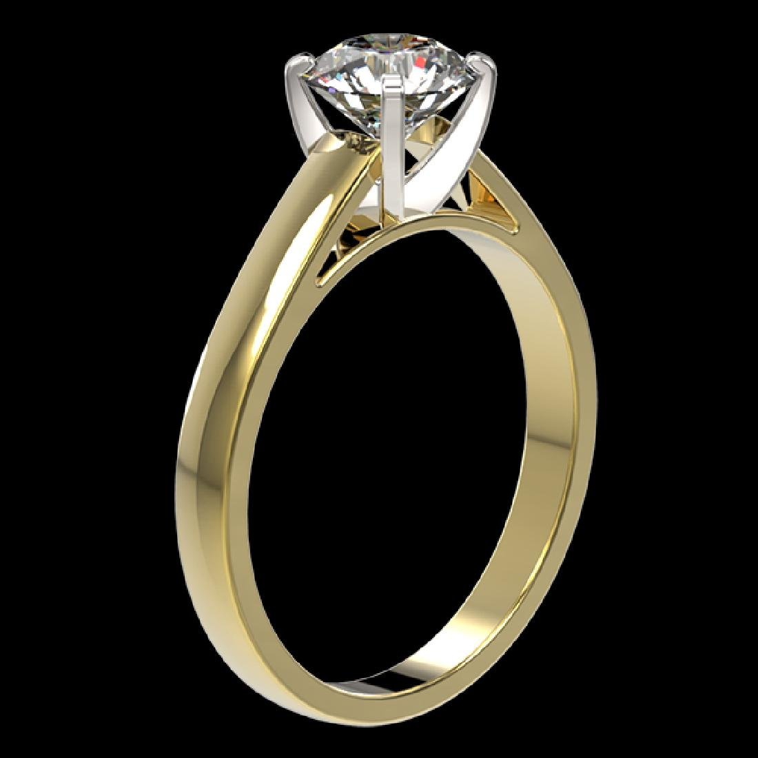 1.26 CTW Certified H-SI/I Quality Diamond Solitaire - 3