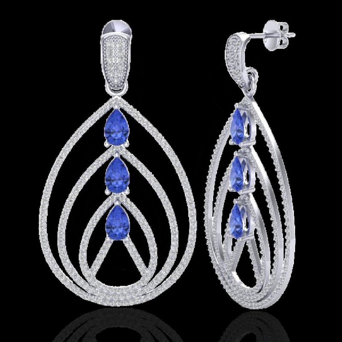 4 CTW Tanzanite & Micro Pave VS/SI Diamond Designer - 2