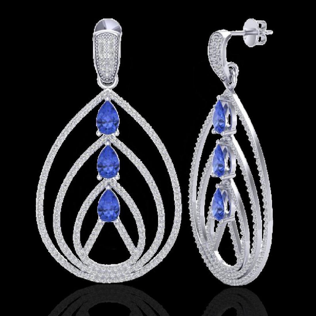 4 CTW Tanzanite & Micro Pave VS/SI Diamond Designer - 2