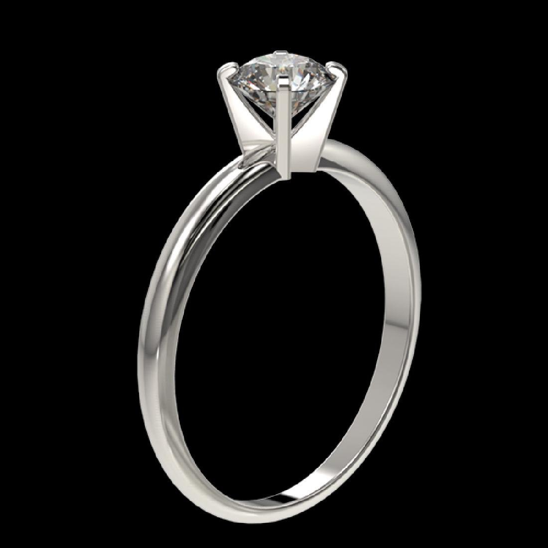 0.75 CTW Certified H-SI/I Quality Diamond Solitaire - 3
