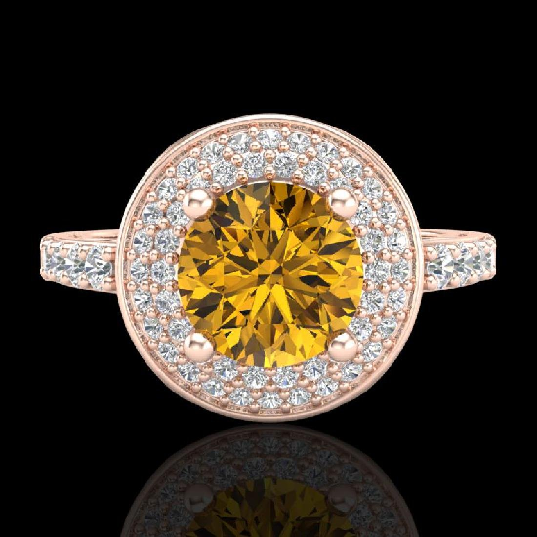 1.7 CTW Intense Fancy Yellow Diamond Engagement Art - 2
