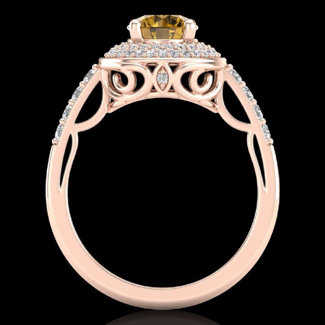 1.7 CTW Intense Fancy Yellow Diamond Engagement Art - 3