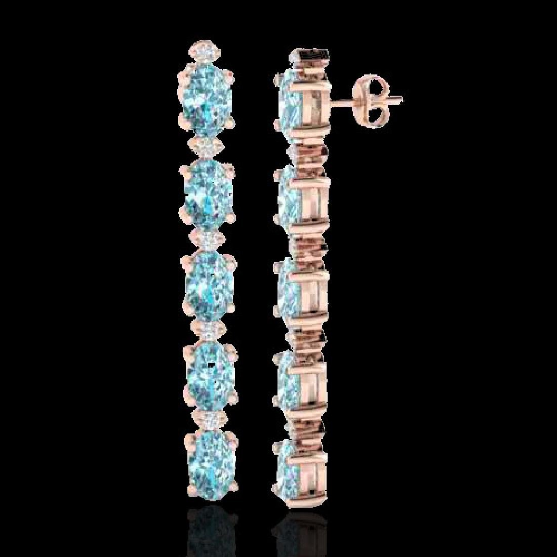 10.36 CTW Sky Blue Topaz & VS/SI Certified Diamond - 2