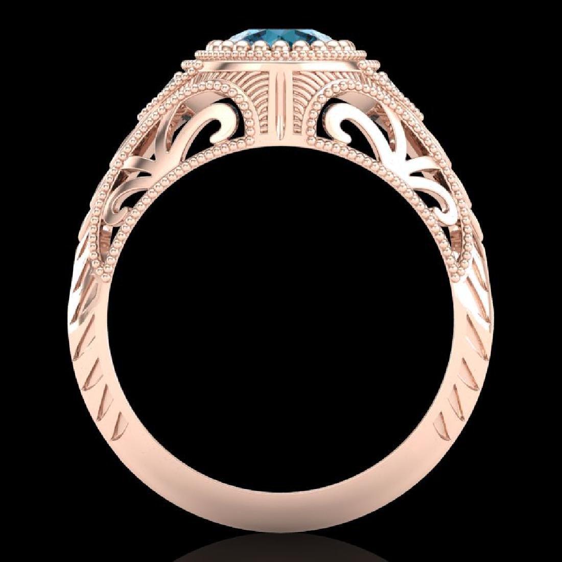 1.07 CTW Fancy Intense Blue Diamond Solitaire Art Deco - 3