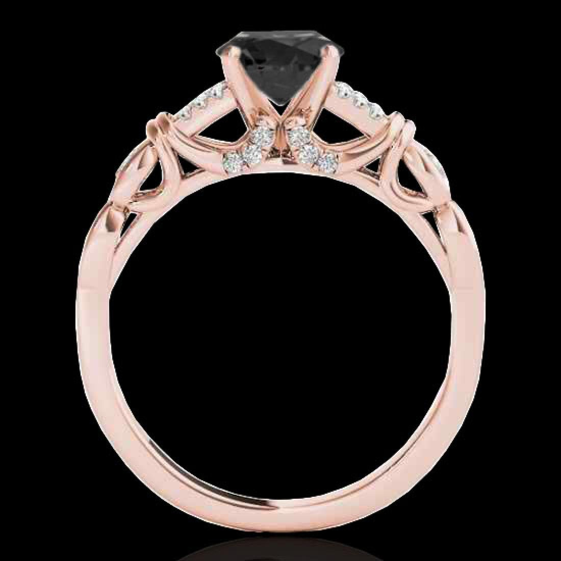 1.2 CTW Certified VS Black Diamond Solitaire Ring 10K - 2