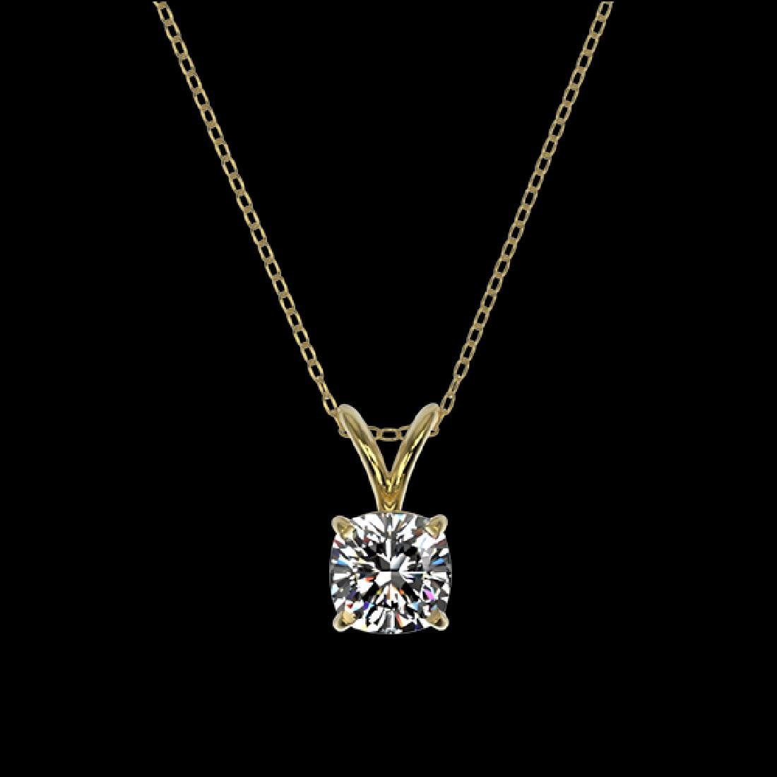 0.50 CTW Certified VS/SI Quality Cushion Cut Diamond - 2