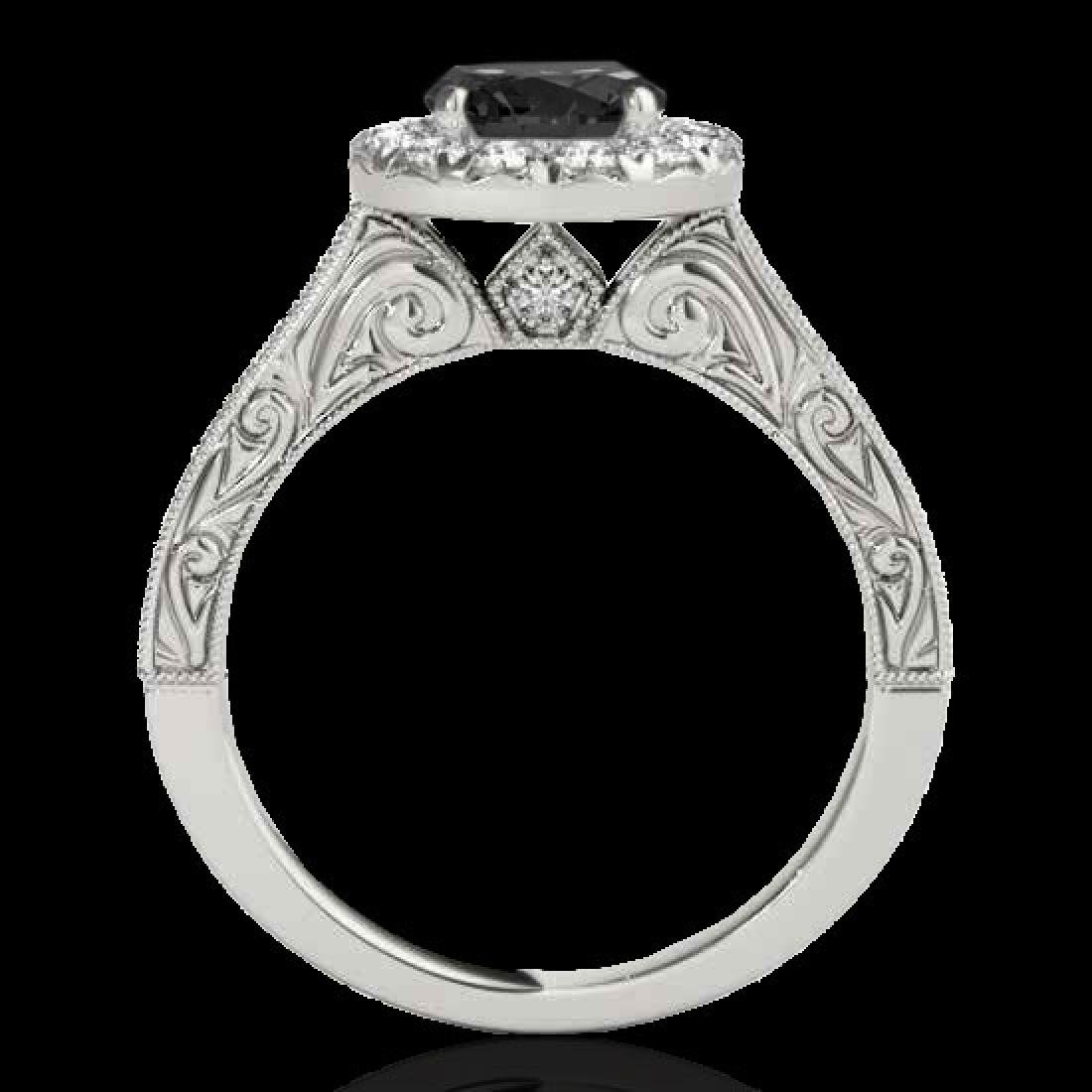 2.22 CTW Certified VS Black Diamond Solitaire Halo Ring - 2