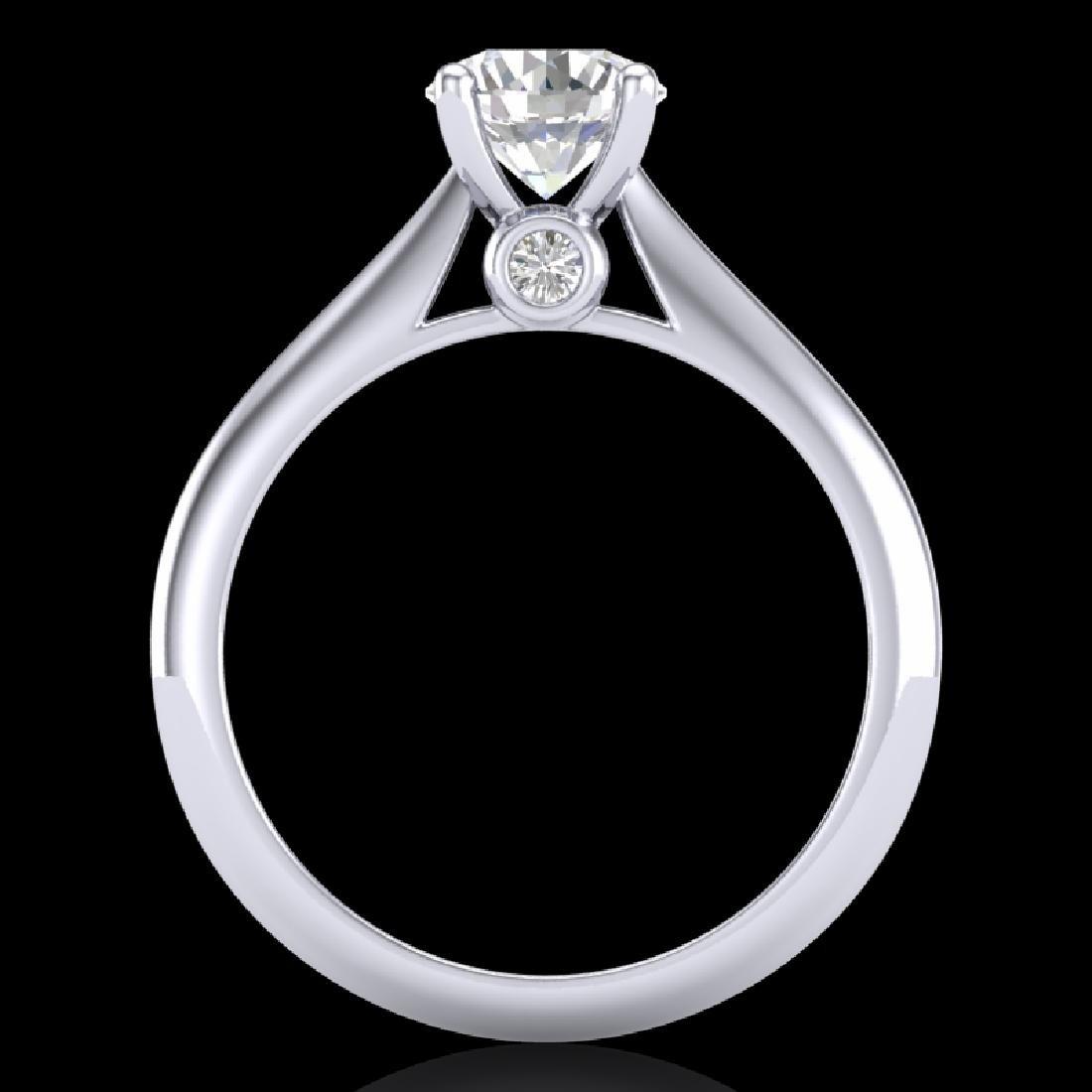 1.08 CTW VS/SI Diamond Solitaire Art Deco Ring 18K - 3
