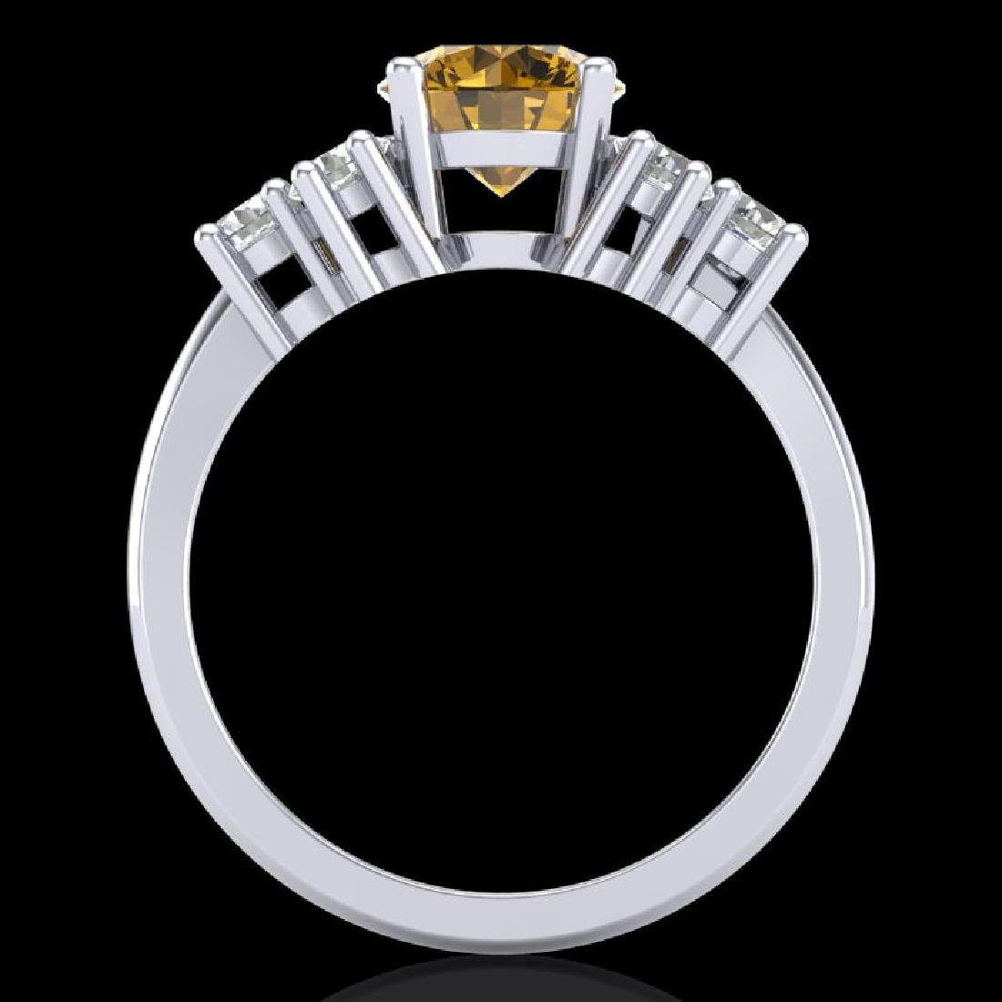 2.1 CTW Intense Fancy Yellow Diamond Solitaire Classic - 3