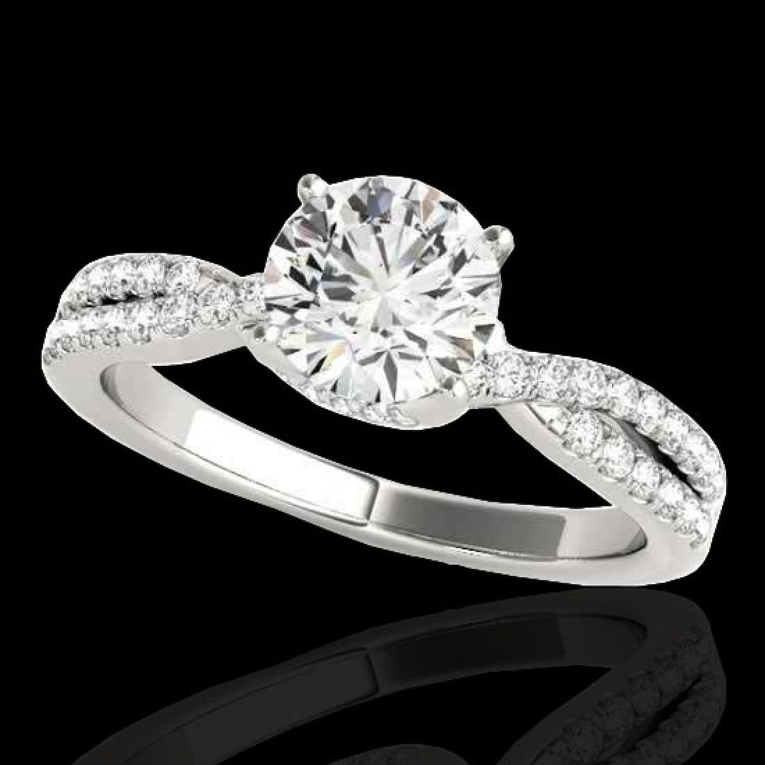 1.3 CTW H-SI/I Certified Diamond Solitaire Ring 10K