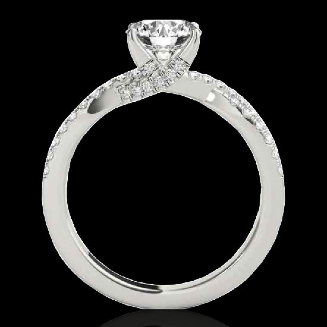 1.3 CTW H-SI/I Certified Diamond Solitaire Ring 10K - 2
