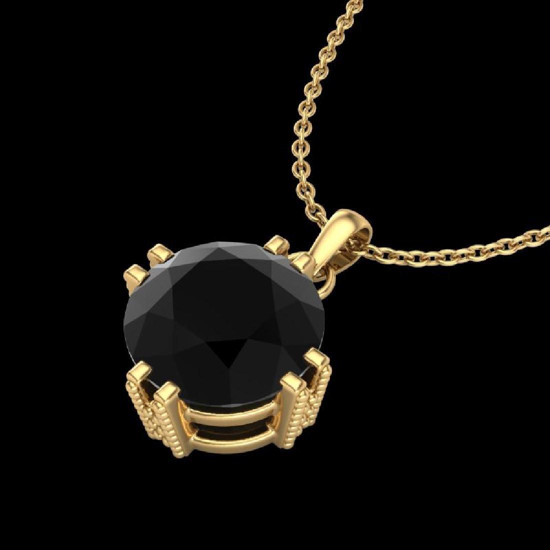 1 CTW Fancy Black Diamond Solitaire Art Deco Stud - 2