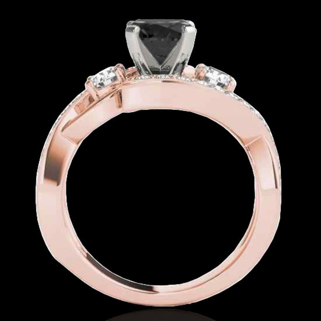2.01 CTW Certified VS Black Diamond Bypass Solitaire - 2