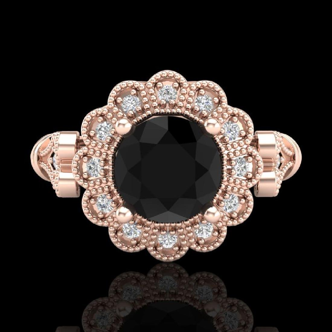 1.2 CTW Fancy Black Diamond Solitaire Engagement Art - 2
