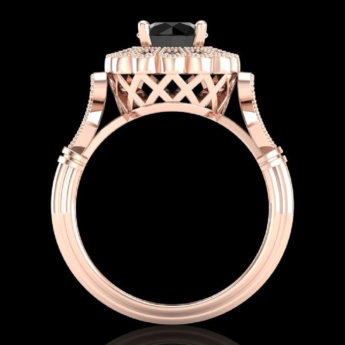 1.2 CTW Fancy Black Diamond Solitaire Engagement Art - 3