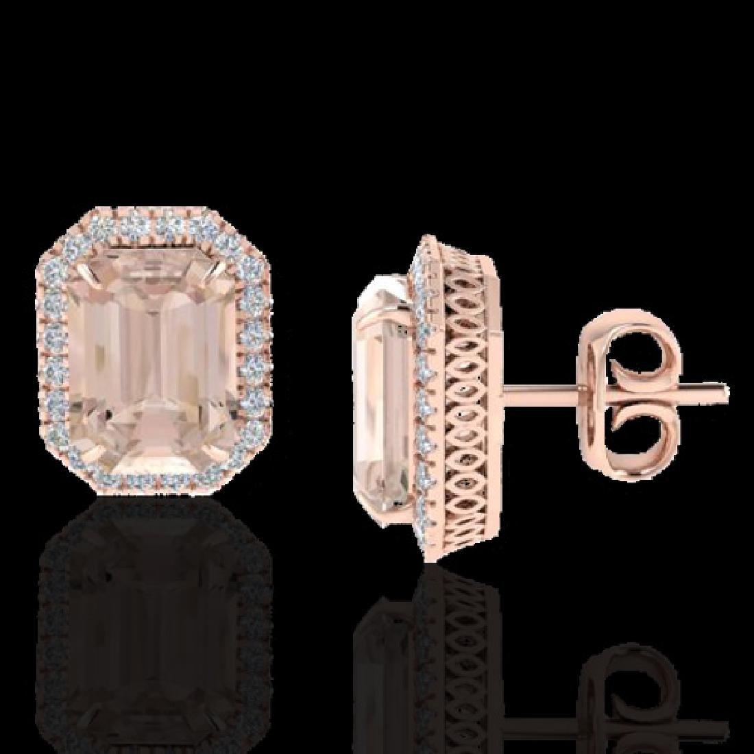 8.40 CTW Morganite & Micro Pave VS/SI Diamond Halo - 2