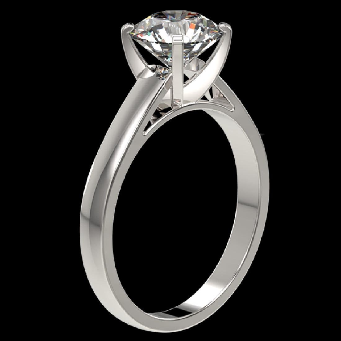 2.05 CTW Certified H-SI/I Quality Diamond Solitaire - 3