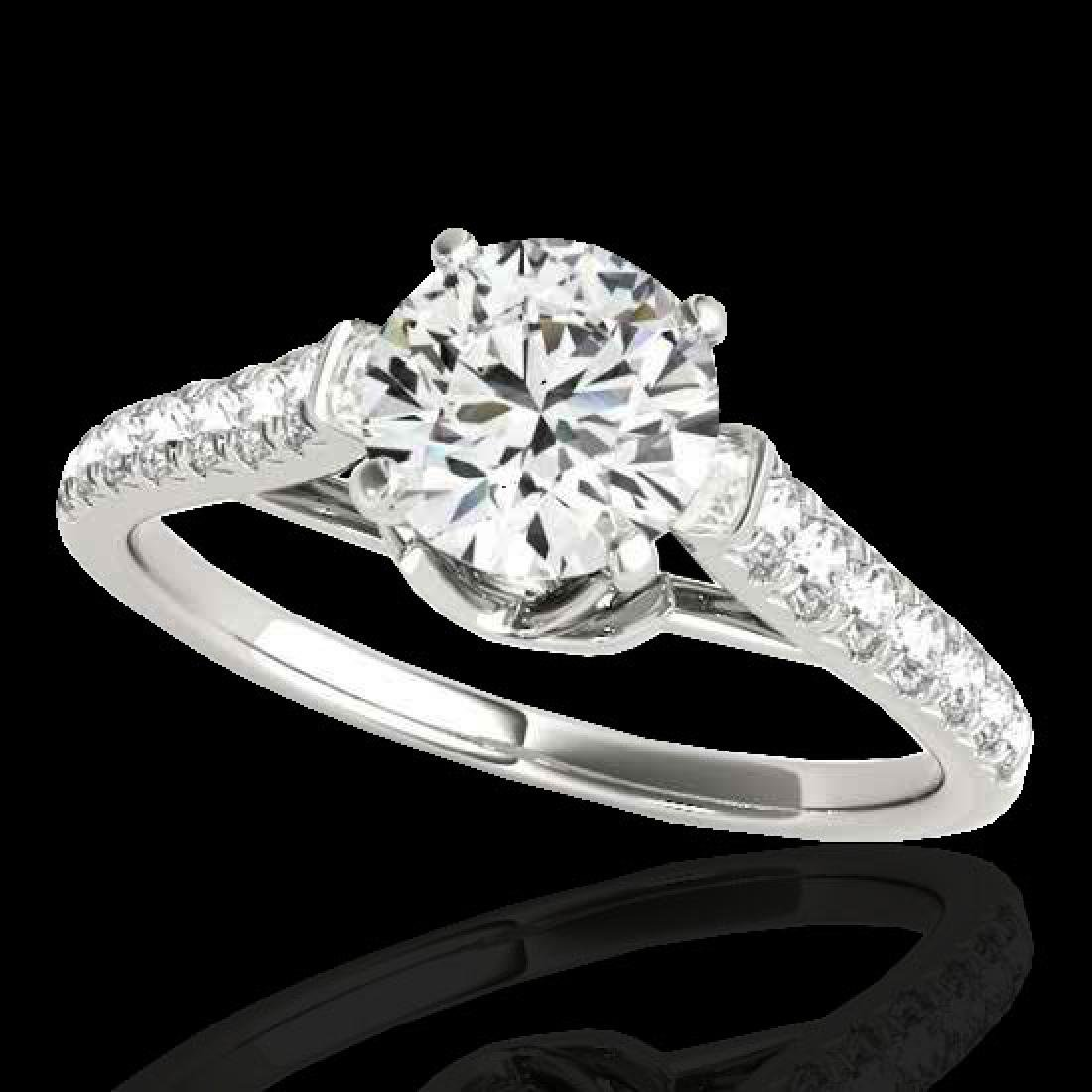 1.46 CTW H-SI/I Certified Diamond Solitaire Ring 10K